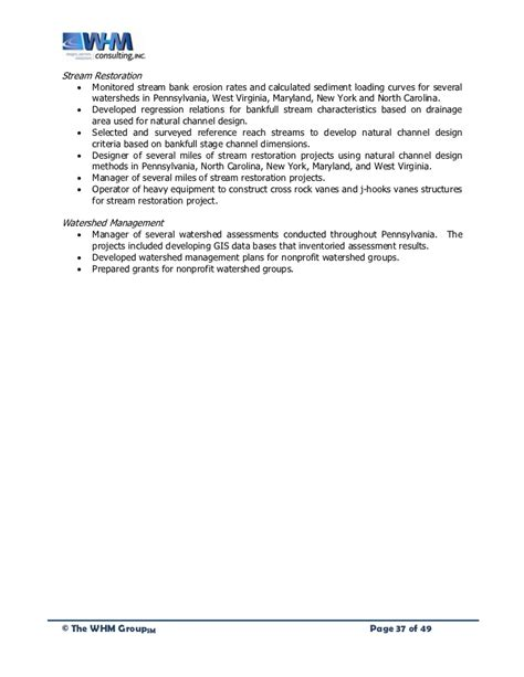 design criteria for wetlands replacement whm group quals