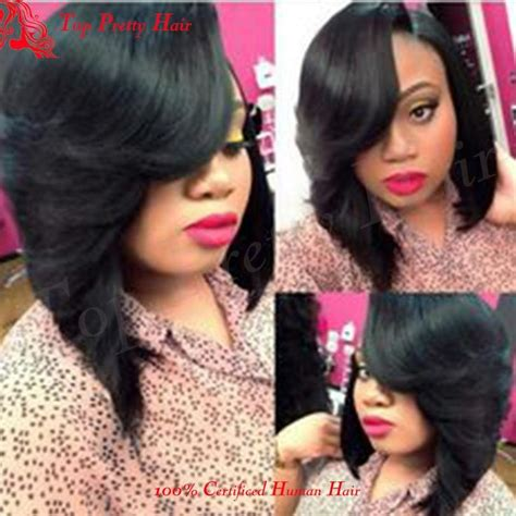 bouncy short hair with side feathers summer bob short brazilian wig for women full lace wig bob
