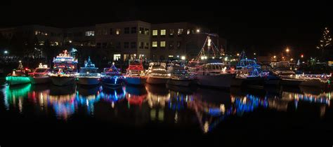 petaluma boats and christmas lights photograph by michael