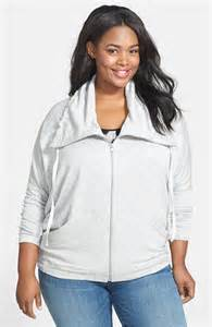 Pink Lotus Plus Size Pink Lotus Front Zip Fleece Knit Jacket Plus Size