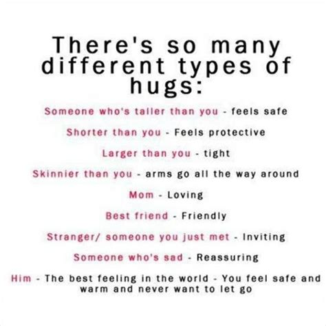 types meaning theres so many different types of hugs pictures photos