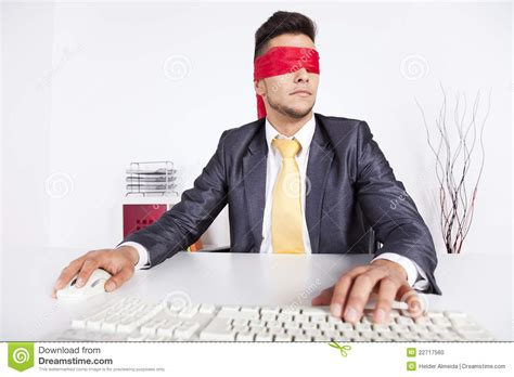 Is 2d Blind Blind Computer User Stock Photo Image 22717560