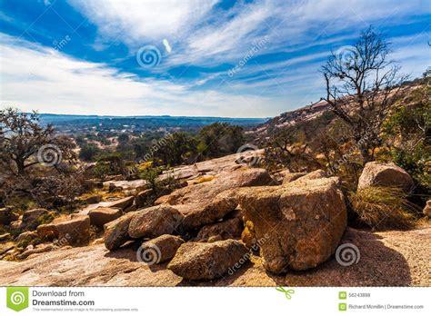 Landscape Rock Tx Western Landscape Of Enchanted Rock Stock Photo