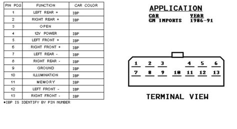 chevy cavalier radio wiring harness diagram