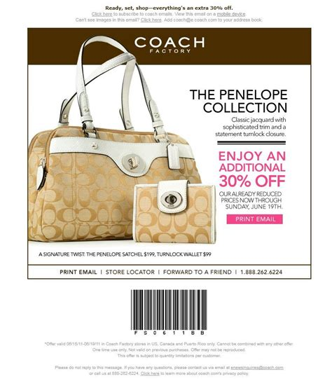 printable coupons for coach outlet coach outlet coupon through 06 19 11