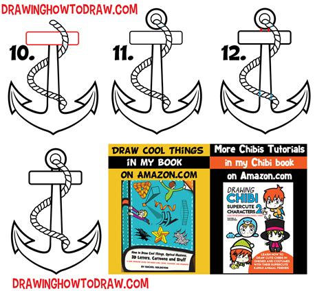 how to draw a boat using shapes how to draw an anchor easy step by step drawing tutorial