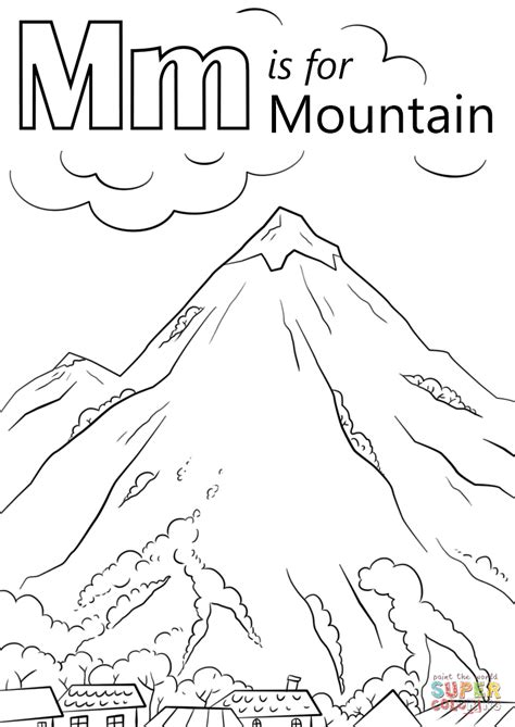 Mountain Coloring Page 2 Mountain Coloring Page Fleasondogs Org