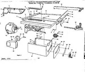 craftsman craftsman 10 inch table saw parts model 113298030 sears partsdirect