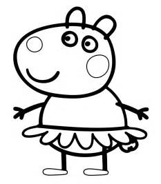 free coloring pages peppa pig mask