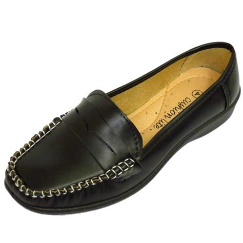 womens loafers black womens black loafers comfy work moccasin slip on casual