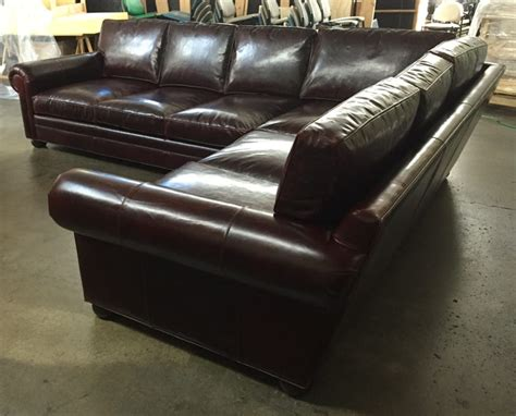 brompton leather couch laf langston l sectional in italian brompton walnut