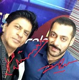 Bollywood superstars Shah Rukh Khan and Salman Khan, who will be seen ...