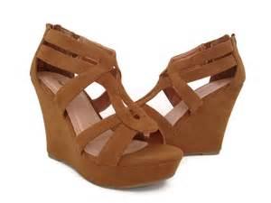 Cute brown wedge sandals
