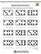 Kindergarten Math Domino Worksheet