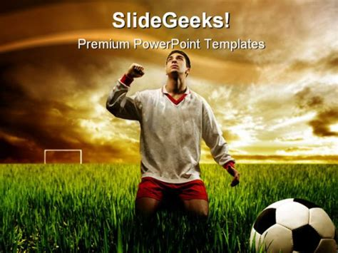 Soccer Player Sports Powerpoint Template 0910 Sports Powerpoint Templates