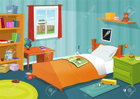 cartoon bedroom bed clipart child bedroom pencil and in color bed