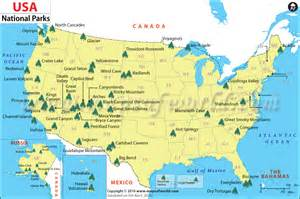 national parks in the united states map pourquoi faut il absolument visiter les parcs nationaux