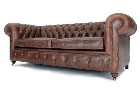 historian vintage leather 3 seater chesterfield sofa bed