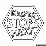 Bullying Stops Here Coloring Page
