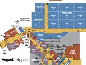 Paris Las Vegas Map by Las Vegas Hotel And Casino Property Maps List