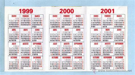 Calendario De 1999 Calendario A 241 O 1999 Al 2002 De Publicidad D Comprar