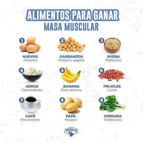 alimentos para subir masa muscular los mejores 21 alimentos para aumentar masa muscular