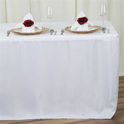 8 ft fitted 96x30 quot polyester tablecloth wedding catering