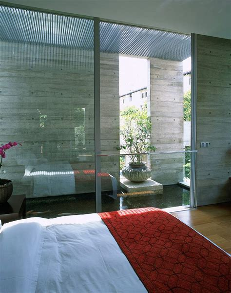 Bedroom Water by Bedroom Glass Walls Water Feature Sunset Vale House