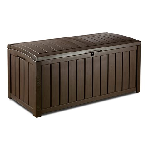 backyard storage box keter 390l glenwood outdoor storage box bunnings warehouse
