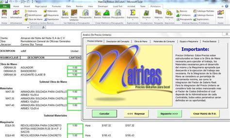 tabulador de precios unitarios 2016 neodata cipu precios unitarios 2016 cipu precios unitarios 2016