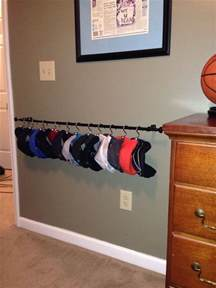 Hat Rack Ideas by Diy Hat Rack I Used A Curtain Rod Shower Curtain Hooks