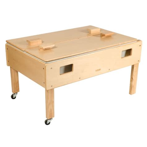 how to sand a table size deluxe sand or water play table with top