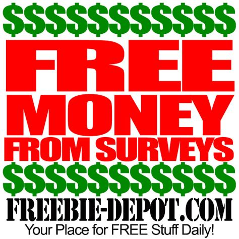Free Money For Taking Surveys - free money from surveys freebie depot