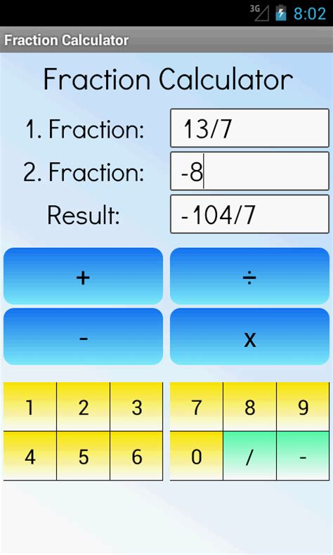 calculator fraction fraction calculator android apps on google play