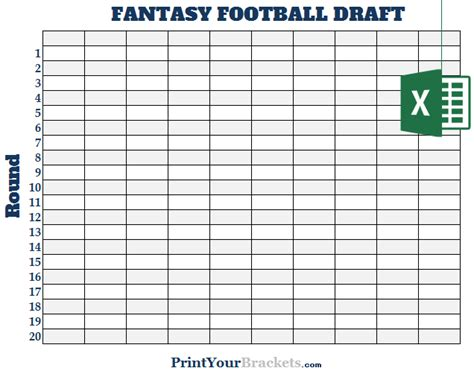 football draft board template excel 10 team football draft board editable