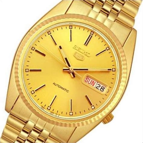 Seiko 5 Otomatis Gold by Buy Seiko 5 Automatic Water Resistance Gold Snxj94k