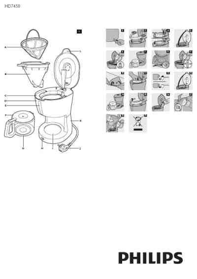 Philips Coffee Maker Hd 7450 philips hd 7450 coffee maker manual for free now