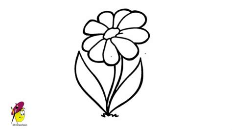 how to doodle easy flowers simple flower drawing how to draw flower easy