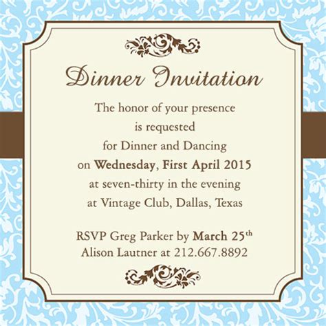 Fab Dinner Party Invitation Wording Exles You Can Use As Ideas Formal Dinner Invitation Template