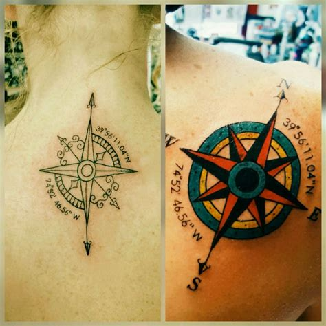 geography tattoos compass best friend with geographic