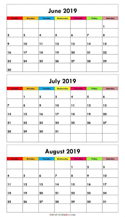 month june july august  calendar green misc stuff