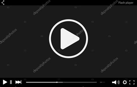 Flash Player Video Player Video Player Mockup Video Player For Web Site Video Player Skin Flash Player Website Templates