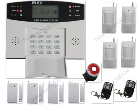 lcd display gsm wireless home security alarm system