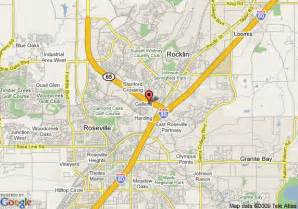 map of homewood suites by sacramento roseville ca