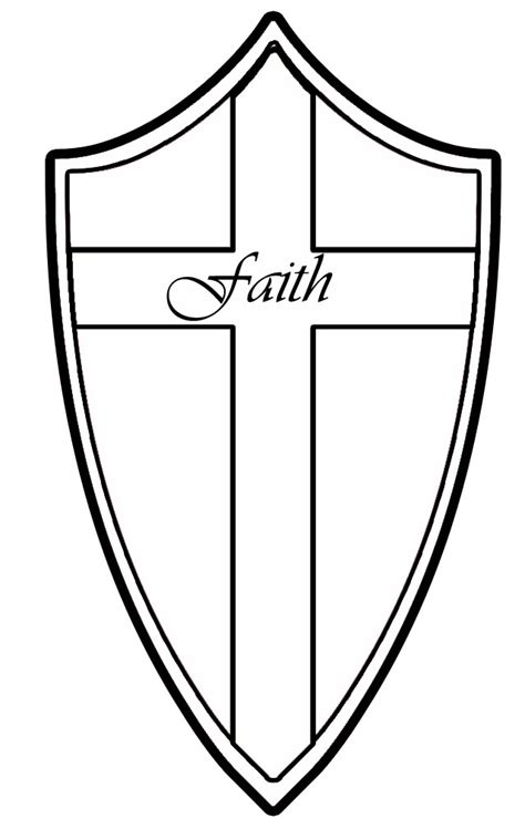 Shield Of Faith Coloring Page free coloring pages of shield of faith