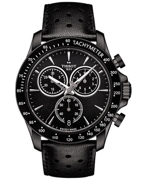 Hd Leather Chrono tissot s swiss chronograph v8 black leather