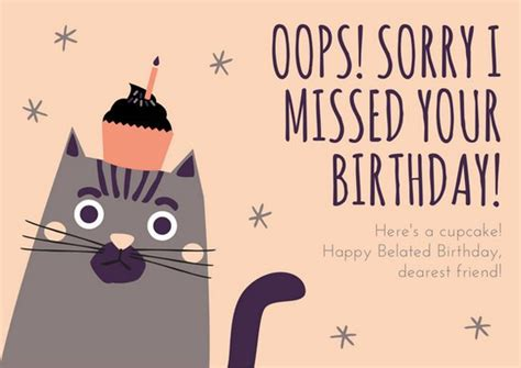 Resume Sample Healthcare by Peach And Gray Illustrated Cat Belated Birthday Card
