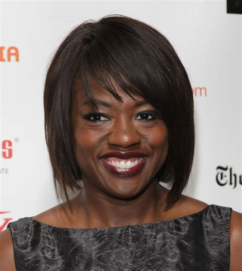 african american hairstyle bob short in the back and long in the front viola davis short bob hairstyle for african american