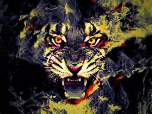 Red and black tiger tiger face yellow red black cool jokeroo