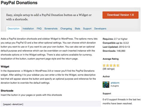How To Integrate Paypal With Wordpress Paypal Donation Page Template